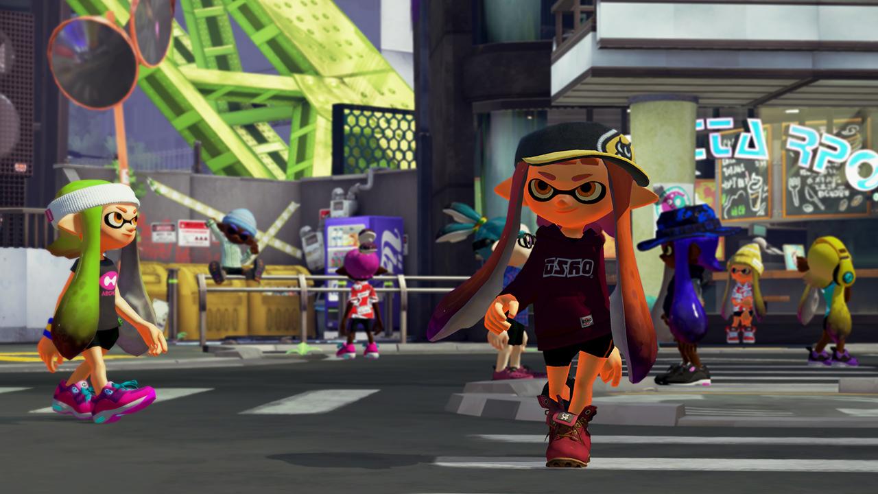 Nintendo Direct Splatoon Screens Central Plaza And