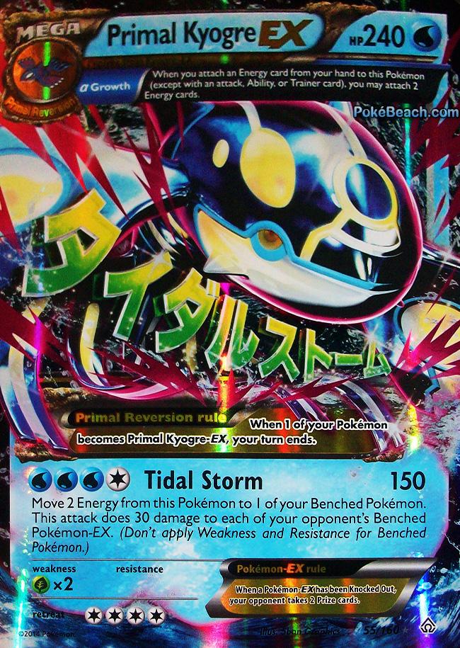 Primal Kyogre EX Card Pokemon Mega