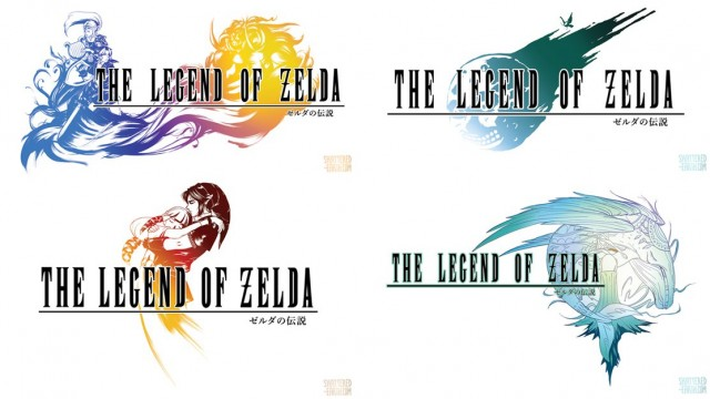 The Legend Of Zelda And Final Fantasy Logo Crossover By Susan Lau